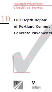 Full-Depth Concrete Repair Checklist