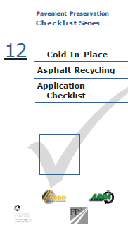 Cold In-Place Recycling Checklist