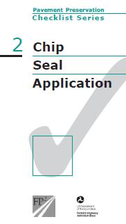 Chip Seal Checklist