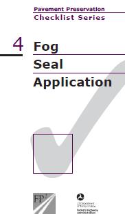 Fog Seal Checklist