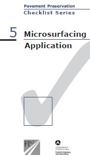 Microsurfacing Checklist