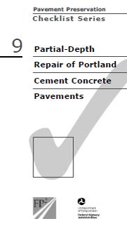 Partial-Depth Concrete Repair Checklist